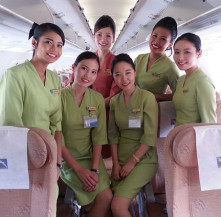 The charming SilkAir Crew