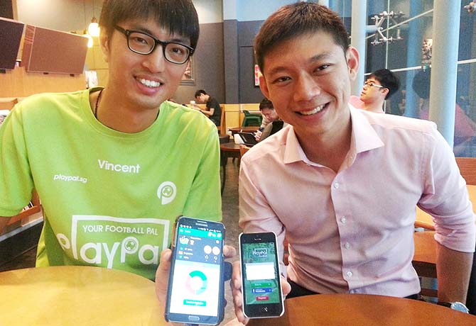 Vincent Tee (left) and  Shaun Lin, founders of PlayPal