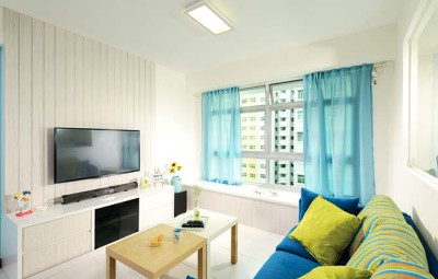 To achieve the beach house look, the colour and material palettes suggest a casual beach vacation