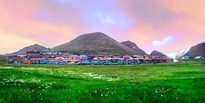 Longyearbyen is the largest settlement of Svalbard, Norway, and a good place to stock up on adventure gear before heading out on an expedition