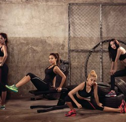 SISTAR working it out in their campaign for Skechers' new collection  From left: Soyu, Hyolyn, Bora and Dasom  (Photo: SKECHERS Singapore)