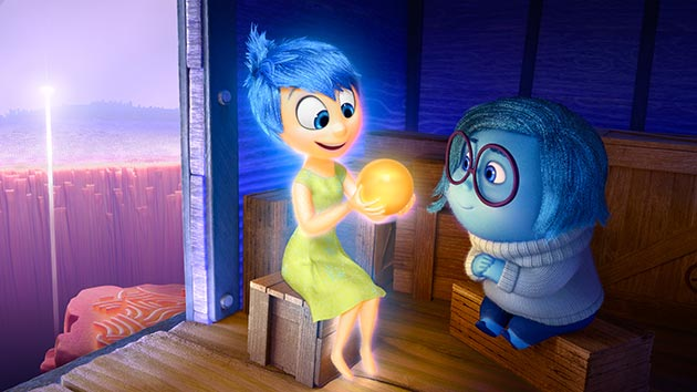 The central message of Inside Out is that it's okay to be sad