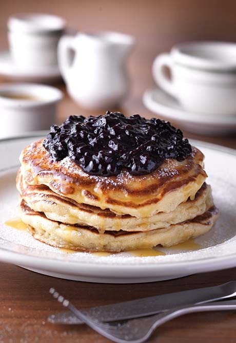 1 Pancakes with Warm Maple Butter (Wild Blueberries) - web
