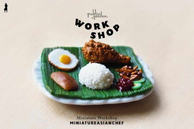 Public Garden Workshop - Miniature Workshop with MiniatureAsianChef (Nasi Lemak) Web