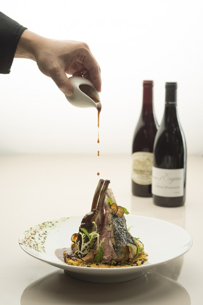 Lamb Chop with Moroccan Couscous and Mint Sauce_Credits John Heng