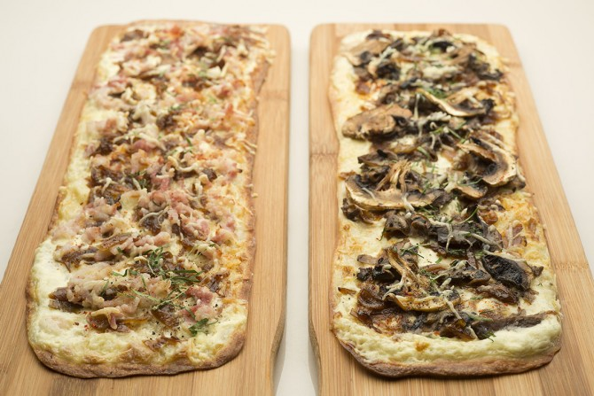 Tarte Flambee (Classic and Forest)_Credits John Heng
