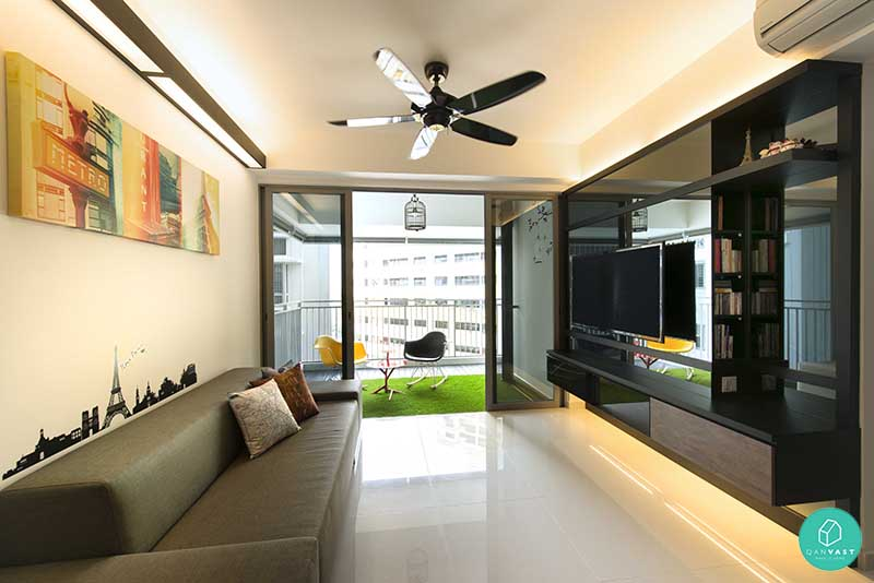 Renovation ideas for homes under 100 square metres for Home interior design singapore