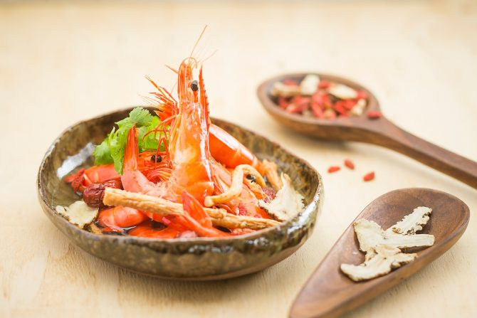 Chinese Herbal Prawns