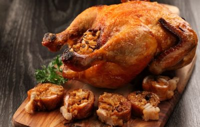 Roasted Crispy Chicken stuffed with glutinous rice and preserved meats - 1 670