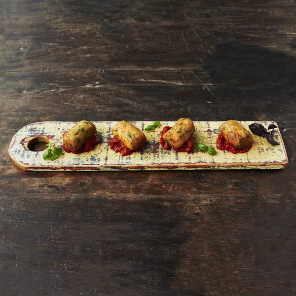 Spinach & Ricotta Croquettes - With fiery arrabbiata sauce