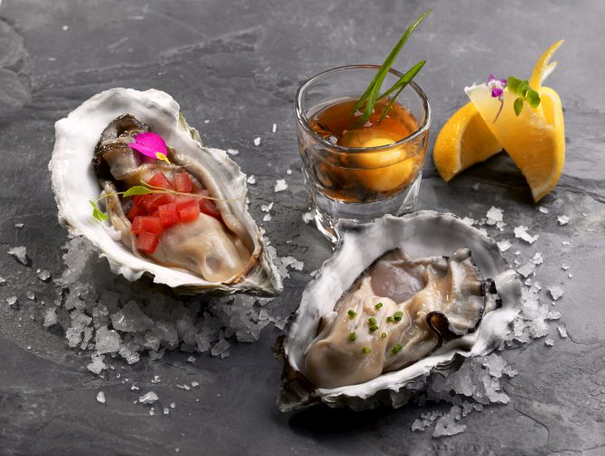 Oysters Fine de Claire in 3 ways, THE CLAN RESTAURANT