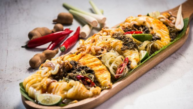 Recipe steamed squid with squid ink sambal by martin yan ingredients forumfinder Image collections
