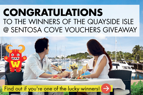 WEEKENDER Quayside Isle @ Sentosa Cove Vouchers Giveaway