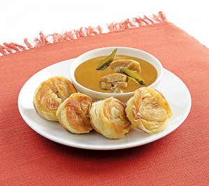 Coin Prata with Curry Chicken