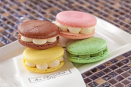 Macarons from  Au Chocolat's confiserie
