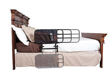 The EZ Adjust Bed Rail protects the elderly from falling
