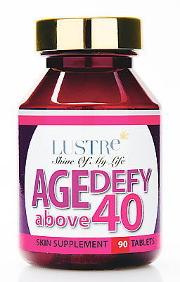 Lustre Age Defy, $55, contains collagen and has various other health benefits
