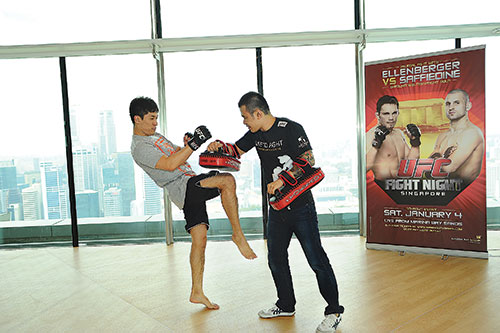 Royston is the first Singaporean to ever sign a deal with UFC