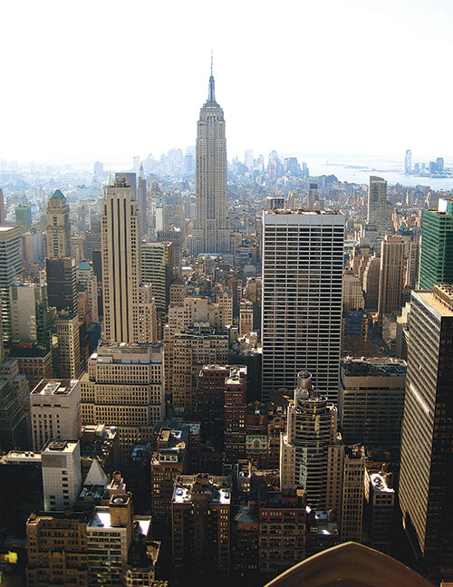View from the Top of the Rock in New York City