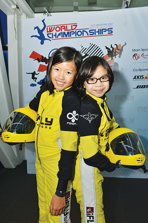 Kyra Poh (right) with her Team Firefly teammate, Choo Yi Xuan