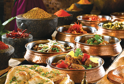 Part of the spread of Flavours of India