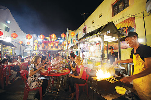 Street hawker stalls  present some of the best food choices available