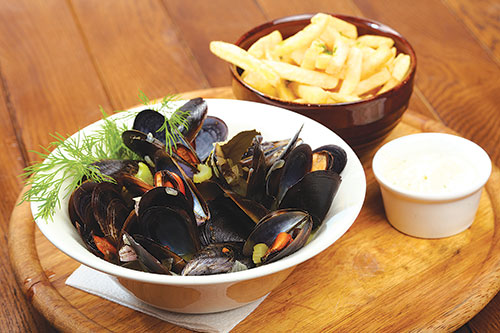 Wheat beer goes brilliantly with the Moules Frites that Belgians can't live without