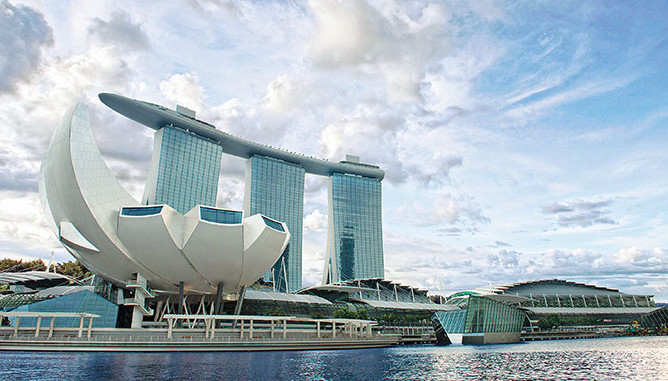 Marina Bay Sands is a popular choice for its incomparable view and restaurants