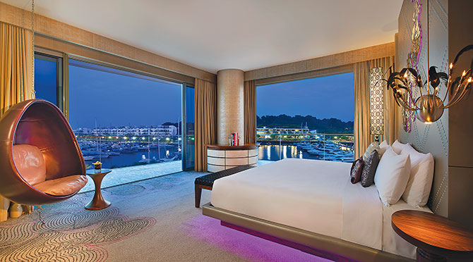 W Singapore Marvelous Suite with a serene view of the Marina