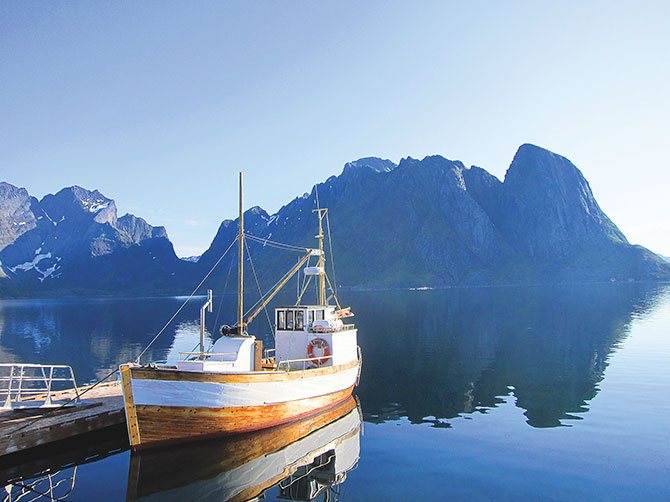 The natural beauty of the arctic fishing village of Lofoten Island in Norway will leave you spellbound
