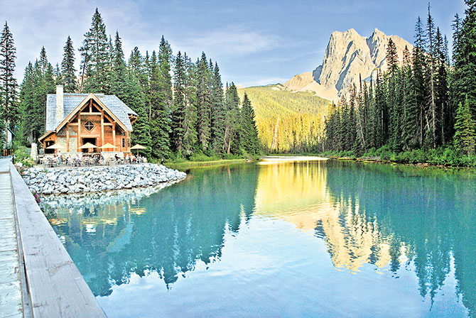 Yoho National Park, Canada, has rest stops cradled in the arms of Mother Nature