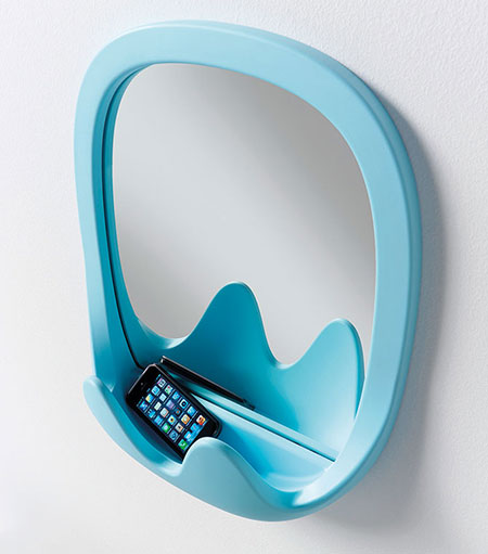 Not only does the Oskar wall mirror come in a variety of cheery colours, it also acts as a handy spot to leave your belongings safe and dry when you're in the bathroom. Price on request, from Lifestorey