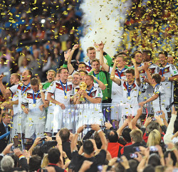 Die Mannschaft, the German team,  is now champion of the world Photo: Sony and 2014 Getty Images
