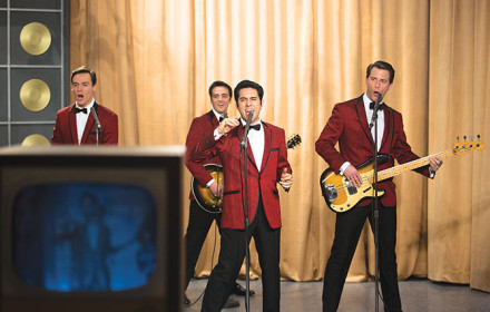 Jersey Boys is about the trials and triumph of Frankie Valli and the Four Seasons
