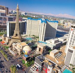"Las Vegas is known as ""Sin City"" and is famous for its extravagance, including a replica  Eiffel Tower, Statue of Liberty, etc."