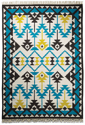 All Laid Out The striking colours, Aztec print and intricate handweave – what's not to like about this 100% wool rug?  Peru rug, $1,245.95, from BoConcept