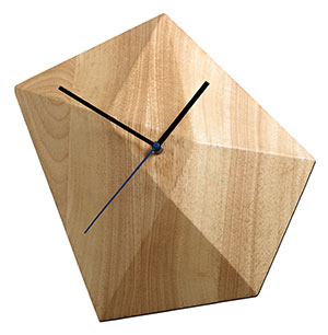 Right On Time Time to make a statement with this asymmetrical wall clock. It's made from rubber wood with fine grains that complement almost any kind of interior. Diamond wall clock, $185.95, from BoConcept