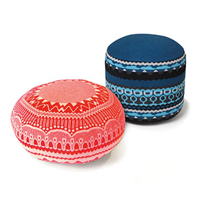 Power Puff Poufs You never know when you might need an extra seat, making occasional seating  a must-have in any social home. These low-lying poufs are a great option, since they are firm enough to also be used as an end table.  Donna Wilson Ernest and Henry pouffes, $992 and $639, from Foundry