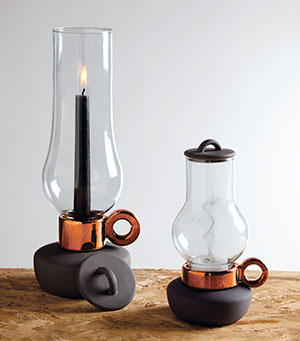 Lantern Festival  Forget boring candleholders. These delightful porcelain-and-glass lanterns do the trick and look twice as good.  Bugia & Lanterna, $48, from Fred Lives Here