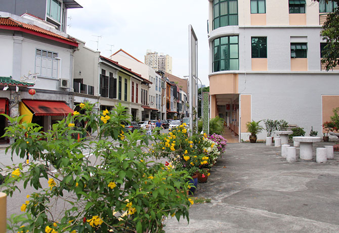 Tiong Bahru is filled with historic flats and shophouses, and yummy food