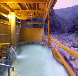 Exclusive Luxury A private cable car shuttles  onsen bathers to this exclusive hot spring by the river in Iya