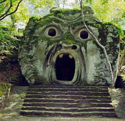 """""""The Mouth of Hell"""" greets you at Bomarzo Monster Park"""