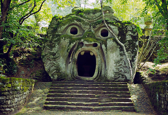 """The Mouth of Hell"" greets you at Bomarzo Monster Park"