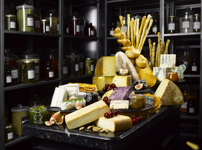 Artisan American cheeses in the Ingredients Room