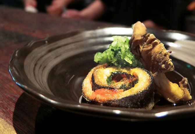 Chef Manel's version of pacific saury fish