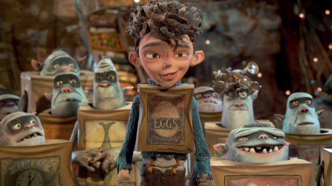 All boxed up Eggs becomes the Boxtrolls' only hope for survival in Cheesebridge