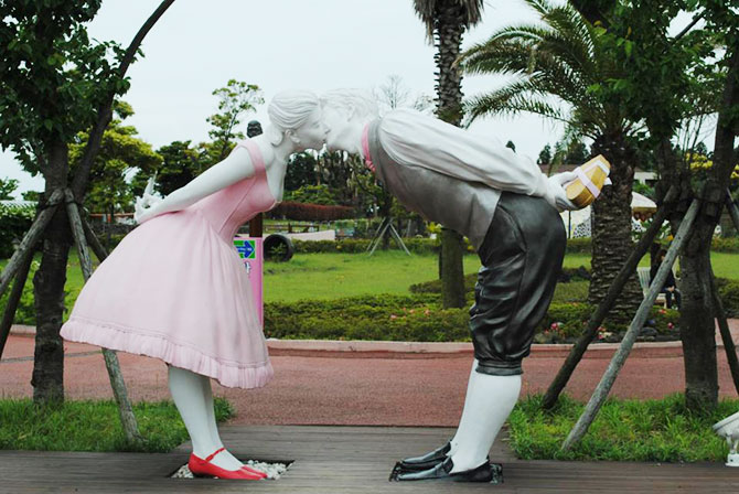 Jeju Loveland: Lovers and much more erotic statues abound