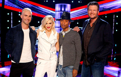 Gwen Stefani and Pharrell Williams add even bigger star power to the show Photo: © 2014 SPE Networks – Asia Pte. Ltd. All rights reserved. AXN is a registered trademark of AXN Network, Inc. © 2010 The Voice Season 7 is an original format owned by Talpa Content B.V., licensed by Talpa Distribution B.V. to AXN. The Voice Season 7 is a trademark owned by Talpa Content B.V.