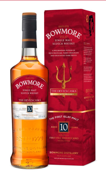 Bowmore Devils Casks Box  Bottle
