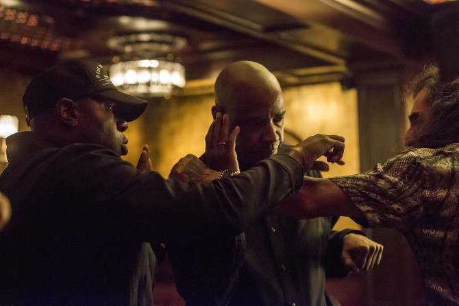 Brutal beatings Director Antoine Fuqua (left) has turned the heat up on his film adaptation of The Equalizer